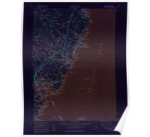 Maine USGS Historical Map York 306860 1956 62500 Inversion Poster