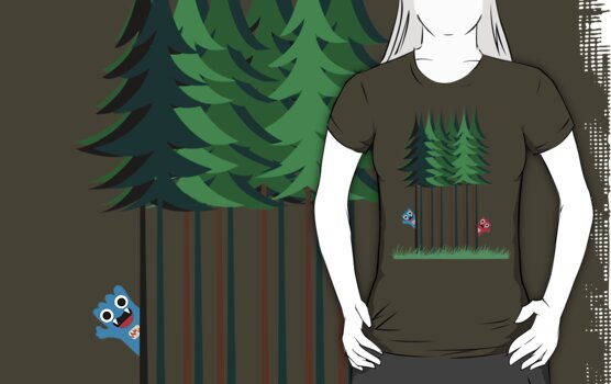 Zarkey Forest Tee by quirkyworld