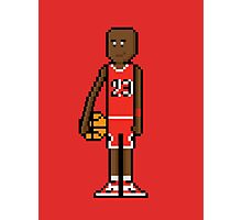 8Bit Michael Jordan Photographic Print