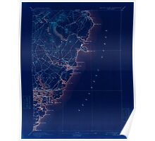 Maine USGS Historical Map York 461043 1893 62500 Inversion Poster