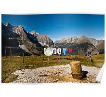 Laundry at the mountain pasture Poster