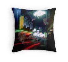 Chinatown blur Throw Pillow