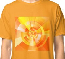 Orange and yellow swirling geometrical shapes Classic T-Shirt