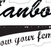 Manboobs - show your feminine side Sticker