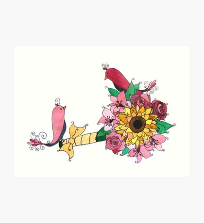 Bouquet Birds Art Print
