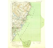 Maine USGS Historical Map York 461045 1920 62500 Photographic Print