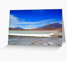 Salar Landscape and Volcanos. Greeting Card
