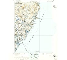 Maine USGS Historical Map York 461046 1920 62500 Photographic Print