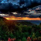 Plateau sunset by Bob Melgar