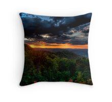 Plateau sunset Throw Pillow