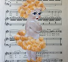 Australian Wattle Baby with Music notes by didgedesigns