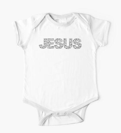 Jesus (black crosses) One Piece - Short Sleeve