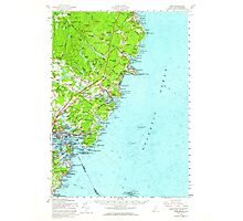 Maine USGS Historical Map York 461047 1956 62500 Photographic Print