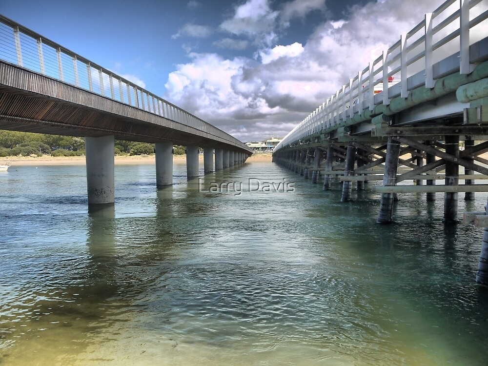 Barwon Heads (2)  A Perspective on Bridges from below. by Larry Lingard-Davis