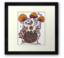 The Snail House Framed Print