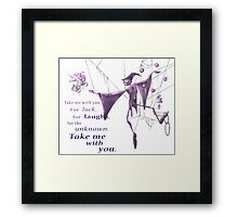 Schmendrick the Magician, sans background Framed Print