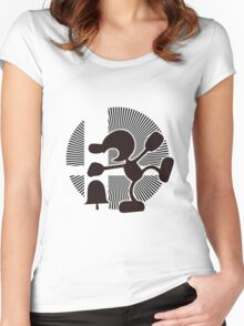 Mr. Game & Watch (Brawl) - Sunset Shores Women's Fitted Scoop T-Shirt