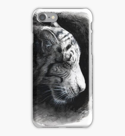 Patience - White Tiger iPhone Case/Skin