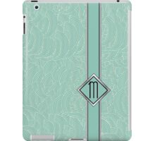 1920s Blue Deco Swing with Monogram letter M iPad Case/Skin