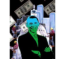 Faith in Barack Obama in the economy Photographic Print