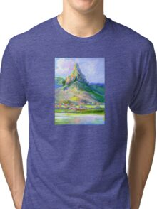 Page's Pinnacle , Numinbah National Park Queensland  Tri-blend T-Shirt