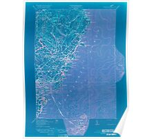 Maine USGS Historical Map York 807743 1920 62500 Inversion Poster