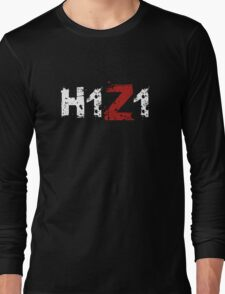H1Z1: Title - White Ink Long Sleeve T-Shirt