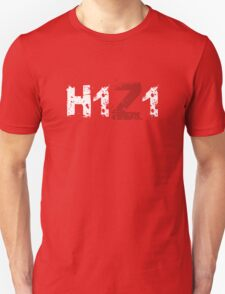 H1Z1: Title - White Ink Unisex T-Shirt