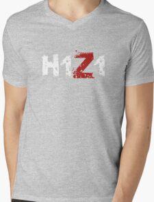 H1Z1: Title - White Ink Mens V-Neck T-Shirt