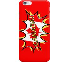 Canadian Flag Comic Style Starburst iPhone Case/Skin