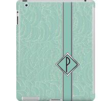 1920s Blue Deco Swing with Monogram letter P iPad Case/Skin