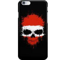 Chaotic Austrian Flag Splatter Skull iPhone Case/Skin
