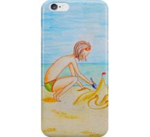 Children on the beach iPhone Case/Skin