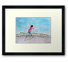 Running girl  Framed Print