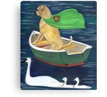 Buddha Dog and Clean water Canvas Print