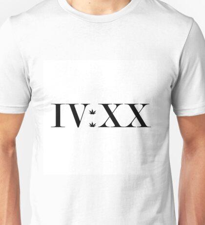 420 In Roman Numeral. IV:XX Unisex T-Shirt