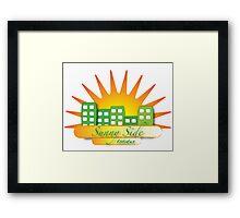 Sunny Side Estates Framed Print
