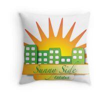 Sunny Side Estates Throw Pillow