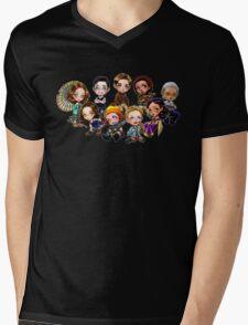 Chibi Damn Heroes Mens V-Neck T-Shirt