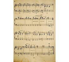 fragment with music  notes Photographic Print