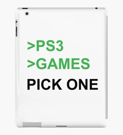 PS3 Has No Games iPad Case/Skin