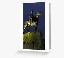 Royal Scots Grey's Memorial Statue Greeting Card