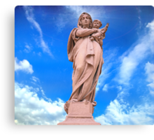 Statue of Divine Mother Canvas Print