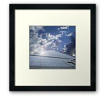 office centre - business ship in sky Framed Print