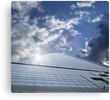 office centre - business ship in sky Canvas Print
