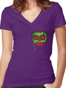 Poison Apples are the Sweetest Women's Fitted V-Neck T-Shirt
