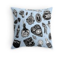 Witchy (pale blue limited version) Throw Pillow