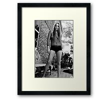 Black & White Glamour Implied Nude Framed Print