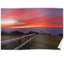 Sunset Over the Brendon Hills Poster