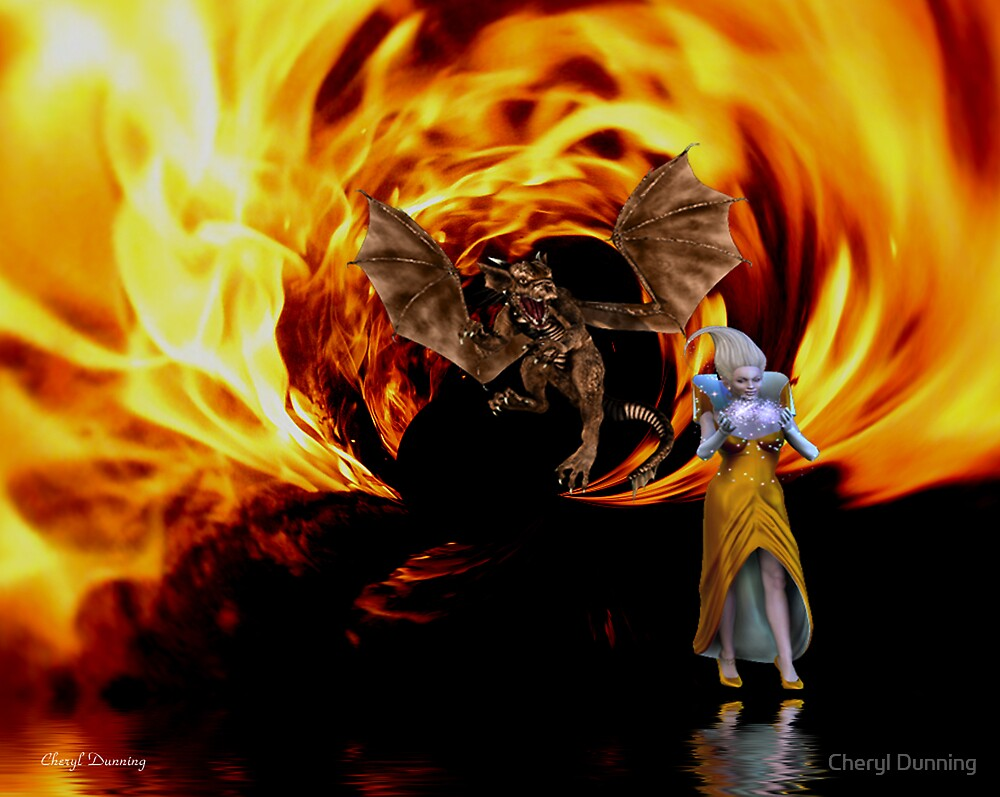 dragon out of the flames by Cheryl Dunning